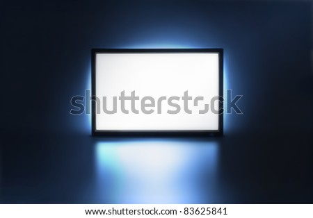 Presentation screen, LCD monitor with space for your image