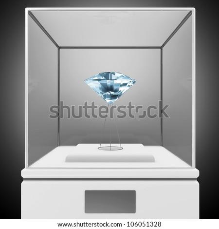 Presentation Showcase with Blue Diamond
