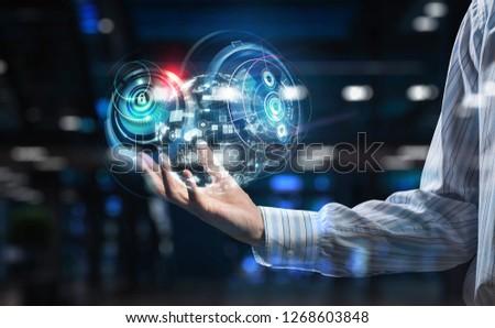 Presenting new technologies. Mixed media #1268603848