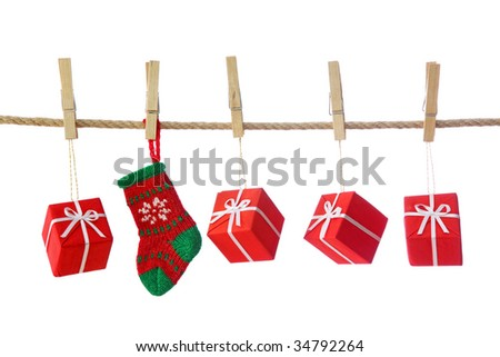Presents isolated on white background