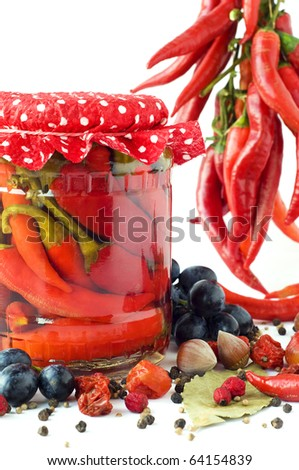 Preserved chili still-life