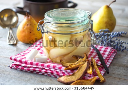 Preserved Fruit.Homemade Pears Compote Stock Photo 315684449 ...