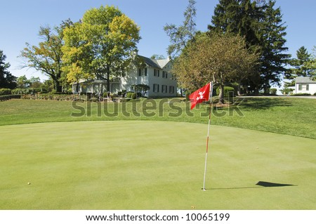 President Eisenhower\'s house and personal putting green