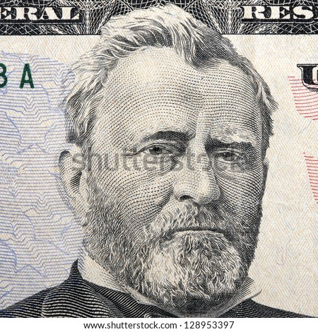 president grant on the fifty dollar bill