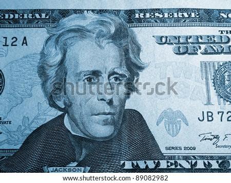 President Jackson on the twenty dollar bill.