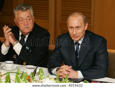 President of Russia Vladimir Putin at a meeting with veterans Great Patriotic War