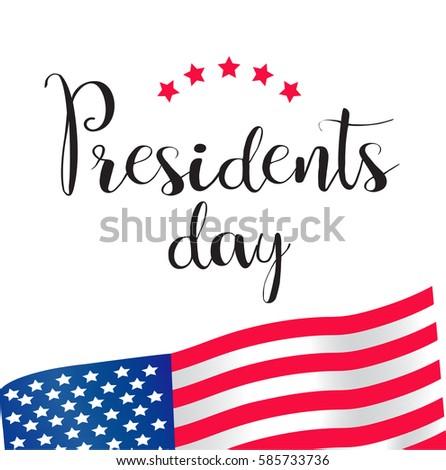 Presidents Day  illustration - Shutterstock ID 585733736