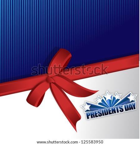 Presidents day sign illustration design over a blue background