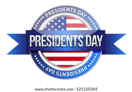 presidents day. us seal and banner illustration design