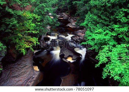 Presque Isle River at Porcupine Mountains State Park in Michigan