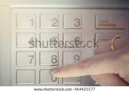 Press ATM EPP password keyboard background #464425577