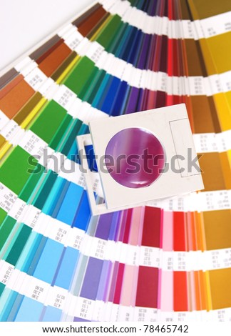 Press color and magnifying glass