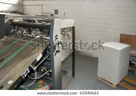 Press printing (printshop) - Offset machine. Offset press is a printing machine designed to produce fine quality reproductions.