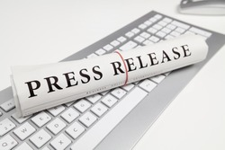 press release written on newspaper