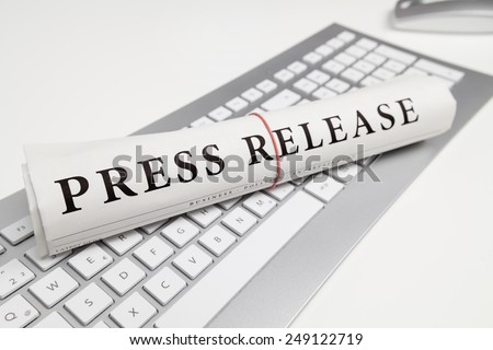press release written on newspaper