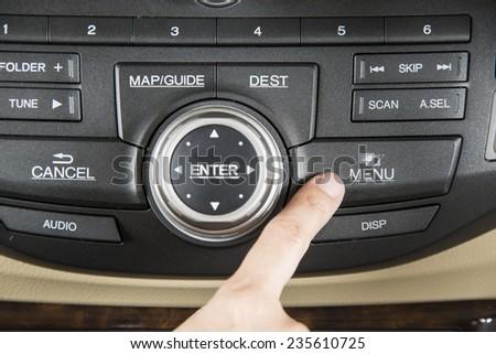 press the button menu console in car