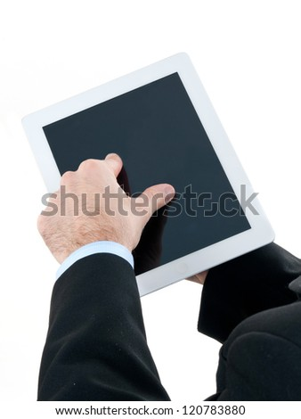 Press your on tablet computer