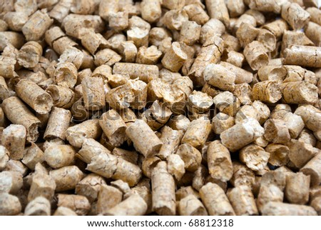 Pressed sawdust pellets, an environmentally friendly product