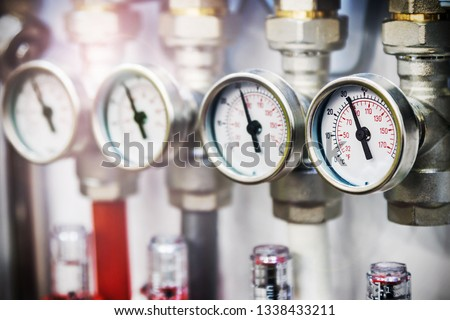 pressure gauge, fittings and valve, pipes and adapters. Plumbing fixtures and piping parts #1338433211