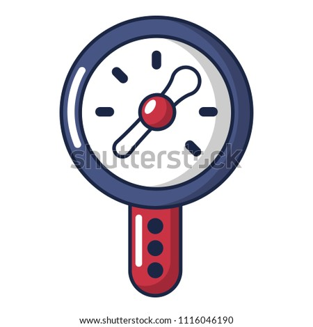 Pressure indicator icon. Cartoon illustration of pressure indicator icon for web