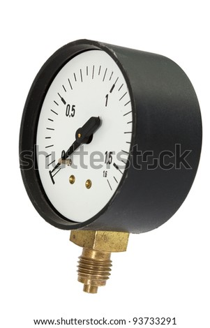 Pressure meter isolated, isolated on white background