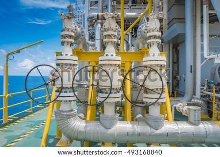 Pressure safety valve install at discharge of feed gas compressor to protect unexpected pressure form process. Offshore oil and gas production platform.