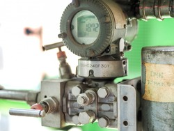 Pressure transmitter was installed in power plant.