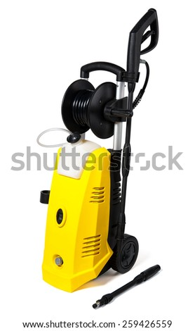 Pressure washer on white background
