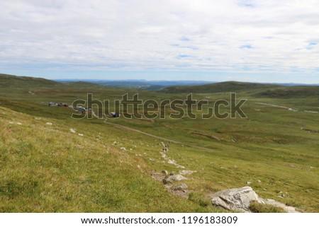 Prestholtskarvet a hiking route height 1863 meter