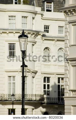 Prestigious buildings in London's wealthy inner boroughs.