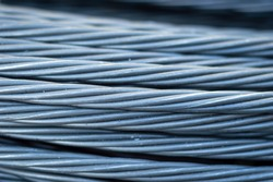 Prestress Cable texture. Post tension Wire Strand texture.