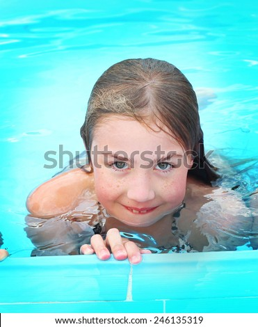 Free Photos Three Preteen Girls In Open Air Swimming Pool In Egypt