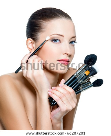 Lifestyle - Pagina 4 Stock-photo-pretty-adult-woman-making-make-up-around-the-eyes-model-posing-over-white-background-66287281