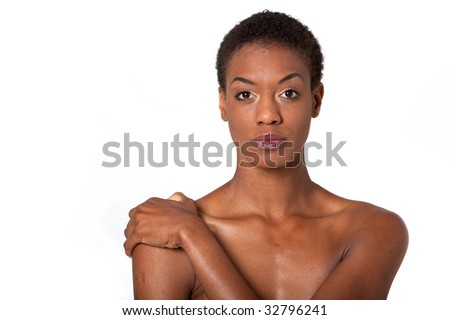 Similar Design: Pretty African American Woman With Short Hair Stock ...