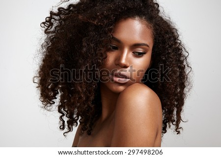 pretty black young woman with...