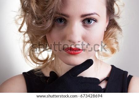 f7672ed6d Free photos Pretty blond girl model like Marilyn Monroe in white ...
