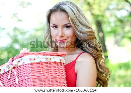 Pretty blond with pink basket