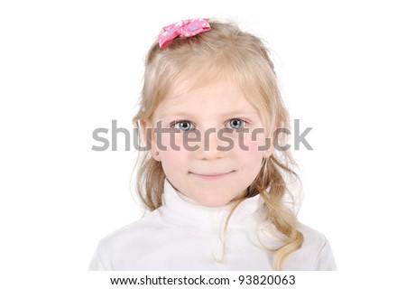 Pretty blonde little girl portrait