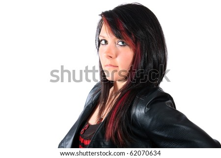 dark brown hair with light brown. dark brown hair with red