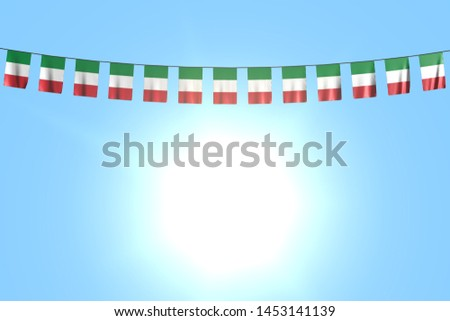 pretty celebration flag 3d illustration