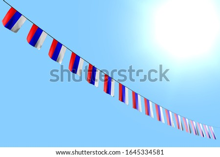 pretty day of flag 3d illustration