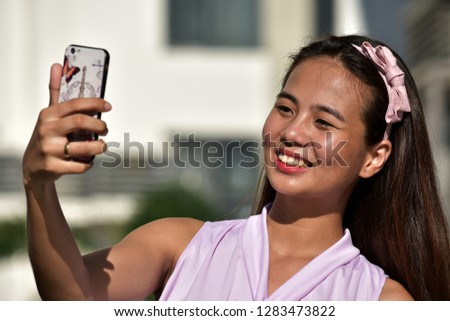 Pretty Filipina Woman Selfie