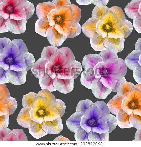 Pretty floral patterns on a grey background