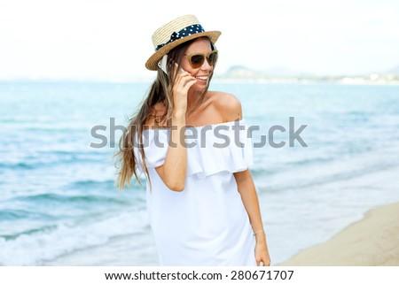 Pretty Girl Using Smart Phone