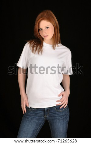 blank white tee. with lank white t-shirt