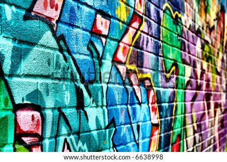 graffiti wallpaper backgrounds. stock photo : Pretty graffiti
