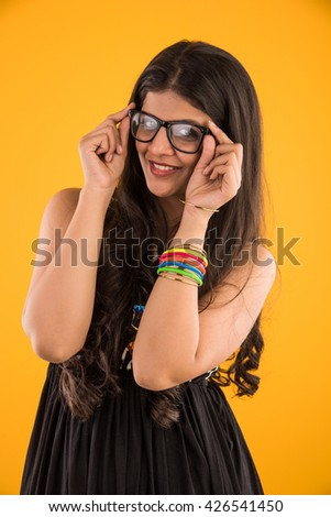 Something is. Sexy girl in spectacles indian