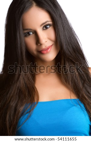 Pretty latina woman smiling - stock photo