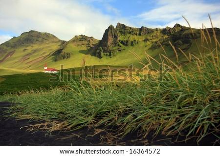 Pretty little remote church, Iceland.