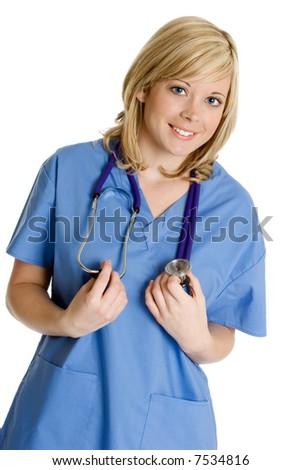 Pretty Nurse - stock photo